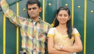 Karthikeyan and his wife Krithiga had planned a natural delivery at home.(HT Photo)