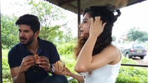 Dulquer Salmaan and Mithila Palkar on a road trip to promote Karwaan.