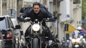 This image released by Paramount Pictures shows Tom Cruise in a scene from Mission: Impossible - Fallout.(AP)