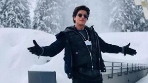 Shah Rukh Khan's signature pose.