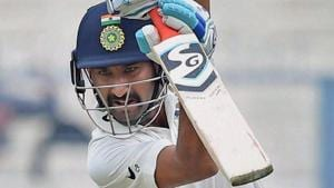 Cheteshwar Pujara did not have a good outing for India in the warm-up match against Essex.(PTI)