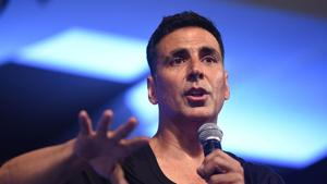 Indian Bollywood actor Akshay Kumar speaks during an event to wish good luck to Indian athletes for the 2018 Asian Games, in Mumbai on July 28, 2018.(AFP)