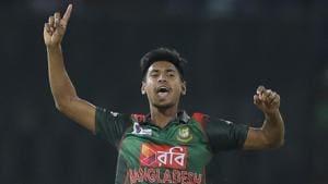 Bangladesh pacer Mustafizur Rahman will make his return in the T20 series against West Indies.(AP)