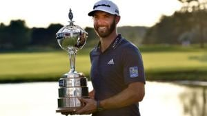 Dustin Johnson clinched the Canadian Open and his third PGA Tour title of the season on Sunday.(REUTERS)