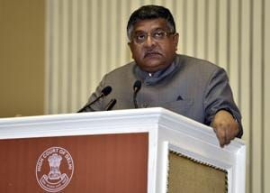 The funds will be utilised to achieve and sustain open defecation-free (ODF) status in villages across the country, said law minister Ravi Shankar Prasad.(Sonu Mehta/HT Photo)