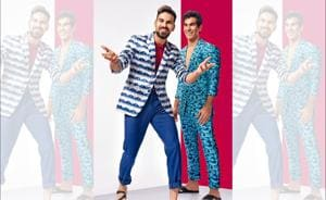 Mayank Dagar (left) is a super talented cricketer whereas Jehan Daruvala is a celebrated motor sports racer. Mayank wears a suit from SS Homme; T-shirt, United Colors of Benetton; sandals, Zara and Jehan wears a suit from SS Homme; cardigan and sandals, Zara. Styling by Nazneen Harianawala, Make-up and hair: Ashwin Shelar(Subi Samuel)