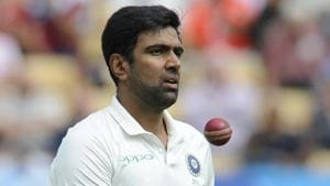 India's Ravichandran Ashwin prepares to bowl during the first day of the first test cricket match between England and India at Edgbaston in Birmingham.(AP)