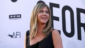 Actor Jennifer Aniston poses at the 46th AFI Life Achievement Award Gala in Los Angeles, California, U.S.(REUTERS)