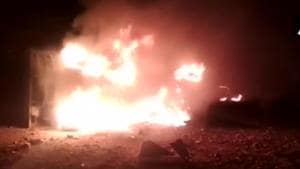 The explosion occurred when regular work was being carried out at the quarry unit, an investigating officer had said on Friday.(Photo: ANI/Twitter)