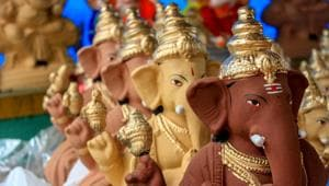 There are eco-friendly versions of Ganesha idols that can be dissolved in water, recycled or planted.(Shutterstock)