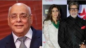 Amitabh Bachchan paid tribute to daughter Shweta Nanda's father-in-law Rajan Nanda who passed away on Sunday.
