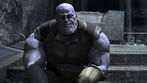 A very early rendering of Josh Brolin's Thanos in a deleted scene from Avengers: Infinity War.