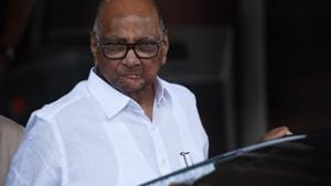 NCP leader Sharad Pawar claimed that Maharashtra chief minister Devendra Fadnavis had announced he would give reservation to Marathas but this commitment had not been implemented.(HT File Photo)