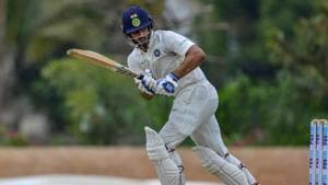 Bengaluru: India A batsman Hanuma Vihari plays a shot en route his unbeaten 138 runs during the first day of the second cricket test match against South Africa A near Bengaluru on Friday, Aug 10, 2018. (PTI Photo) (PTI8_10_2018_000215B)(PTI)