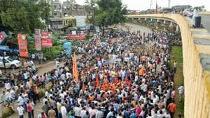 In Mumbai, the bandh called by one faction had little impact.(PTI Photo)