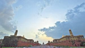 The North and South Block in New Delhi.(Ravi Choudhary/HT PHOTO)