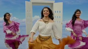 Kajol in and as Helicopter Eela.