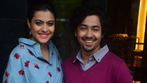 Kajol Devgn and Riddhi Sen at the promotion of their upcoming film Helicopter Eela in Mumbai on August 16, 2018.(IANS)