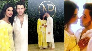 Priyanka Chopra and Nick Jonas show us how to ace festive wear with their engagement looks. (Instagram)