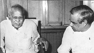 During the Emergency, Vajpayee and Jayprakash Narayan were among the many leaders who were lodged at Tihar jail.(HT Archives)