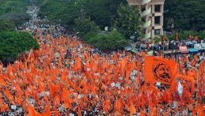 The Maratha community has issued a code of conduct to prevent violence during protests.(HT File)