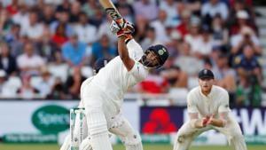 Cricket - England v India - Third Test - Trent Bridge, Nottingham, Britain - August 18, 2018 India's Rishabh Pant in action(REUTERS)