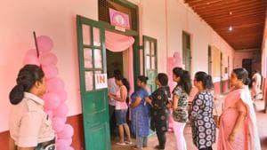 Summary revision of voters' lists conducted by state chief electoral officer in May and June this year suggested that the number of voters had come down to 4.94 crore from 5.07 crore.(PTI file photo)