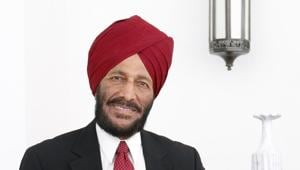 Mikha Singh, known as 'The Flying Sikh' was the first Indian to win an individual athletics gold medal at Commonwealth Games in 1958.(HT File Photo)