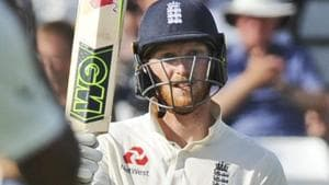 Ben Stokes in action during the third Test match between England and India at Trent Bridge.(AP)