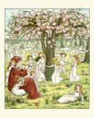 Vintage engraving of a scene from the Pied Piper of Hamelin.(Kate Greenaway/Getty Images)