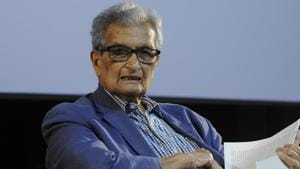 """Nobel laureate Amartya Sen has said all non-communal forces should come together for the 2019 Lok Sabha polls and the Left should not hesitate in joining them as """"democracy is in danger"""".(HT File Photo)"""
