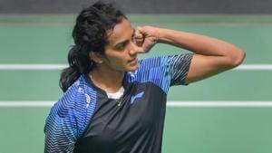 PV Sindhu beats Akane Yamaguchi in the women's singles semifinal at Asian Games 2018.(PTI)