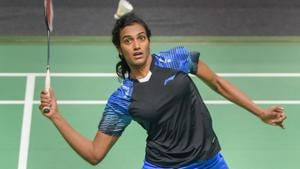 PV Sindhu defeated Akane Yamaguchi to reach the women's singles badminton final at Asian Games 2018.(PTI)