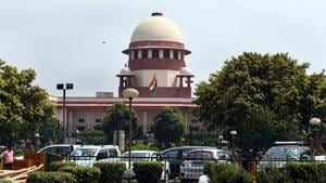 A general view of the Supreme Court in New Delhi.(Sonu Mehta/HT PHOTO)