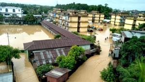 The Netaji Colony in Dimapur, Nagaland's commercial capital. The state has suffered heavy damages in month-long rains.(Handout photo)