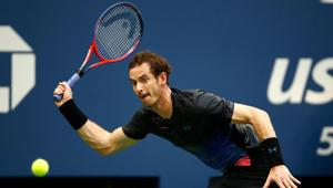 Andy Murray of Great Britain returns the ball during his men's singles second round match against Fernando Verdasco of Spain on Day Three of the 2018 US Open at the USTA Billie Jean King National Tennis Center on August 29, 2018 in the Flushing neighborhood of the Queens borough of New York City.(AFP)