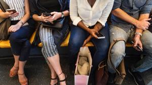 """The researchers concluded that wider internet access on trains had caused a """"blurring of boundaries"""" between life at home and work for the workforce.(Unsplash)"""