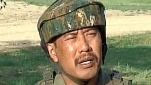"""Major Leetul Gogoi, who was at the centre of the 'human shield' controversy last year, has recently been indicted by an Army court of inquiry (CoI) for """"fraternising"""" with a local woman, paving the way for possible court martial.(Screengrab)"""