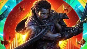 Idris Elba as Heimdall on a poster for Thor: Ragnarok.