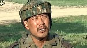 Major Leetul Gogoi who will face a court martial after being indicted for meeting a Kashmiri woman at a Srinagar hotel(Screengrab)
