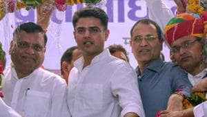 Rajasthan Pradesh Congress Committee President Sachin Pilot during the 'Sarpanch and Panchayatraj Representative Mahasammelan' in Jaipur, Tuesday, Sep 4, 2018.(PTI)