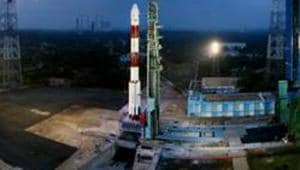Fully integrated PSLV-C40 with all the 31 Spacecrafts at First Launch Pad, at Sriharikota.(PTI File Photo)