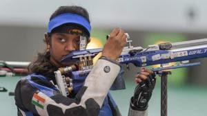 File photo of Indian shooter Valarivan Elavenil(PTI)