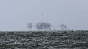 An offshore platform is pictured after Tropical Storm Gordon in Dauphin Island, Alabama, US on September 5, 2018.(Reuters Photo)