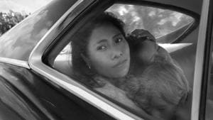 Roma, named after the neighbourhood in Mexico City where writer-director-cinematographer Cuaron grew up, is a Spanish-language drama.