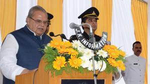 Governor of Jammu and Kashmir Satya Pal Malik.(HT Photo)