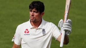 Alastair Cook walks off after losing his wicket during the fifth Test between India and England at the Oval.(REUTERS)