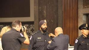 Ludhiana-born Anshdeep first Sikh in US president Donald Trump's security