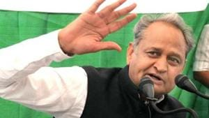 Former Rajasthan CM Ashok Gehlot and senior Congress leader is the sitting MLA from Sadarpura assembly constituency.(HT File Photo)