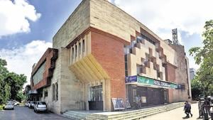 Payal Cinema in Gurugram's Sector 14 is one of the two remaining single screen theatre in the city.(Parveen Kumar / HT Photo)